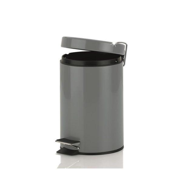 Pedaalemmer grijs 3 liter 17x26h cm